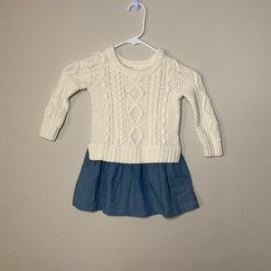 Baby Gap Cable Knit Sweater Dress 2 Years